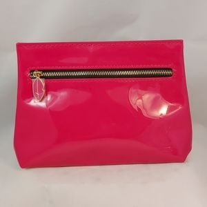 YSL cosmetics bag, hot pink, pattent leather